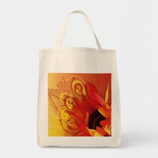 ヒマワリ-オーガニックな食料雑貨のトート トートバッグ