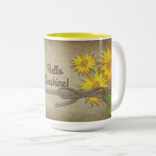 ヒマワリ-マグ-は個人化なります ツートーンマグカップ