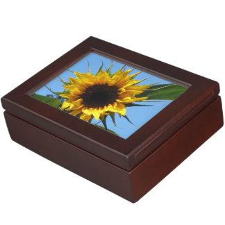 ヒマワリ-マホガニー色の木製の記念品箱 ジュエリーボックス
