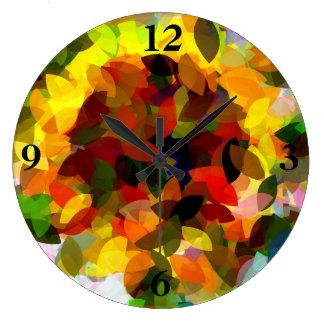 ヒマワリ ラージ壁時計