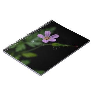 ヒメフウロのゼラニウムのピンクの野生の花のノート ノートブック
