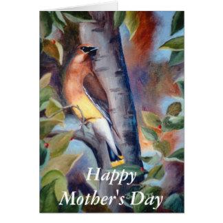 ヒメレンジャクの母の日カード カード