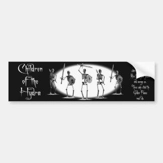 「ヒュドラの子供」の骨組バンパーステッカー バンパーステッカー