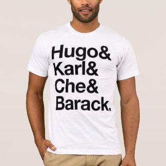 ヒューゴ及びカール及びCHE及びバラク Tシャツ