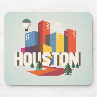ヒューストンのテキサス州 の都市景観のデザイン マウスパッド