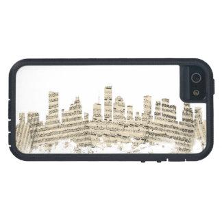 ヒューストンテキサス州スカイラインの楽譜の都市景観 iPhone SE/5/5s ケース