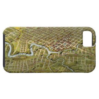 ヒューストンテキサス州(1891年)のヴィンテージの地図 iPhone SE/5/5s ケース