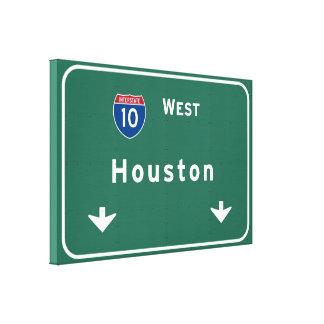 ヒューストンテキサス州txの州間幹線道路の高速道路の道: キャンバスプリント