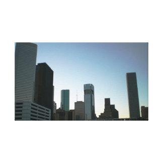 ヒューストン都心のスカイライン キャンバスプリント