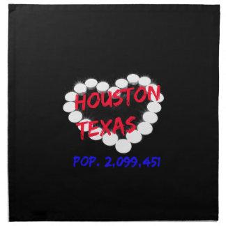ヒューストン、テキサス州のための蝋燭のハートのデザイン プリントナプキン