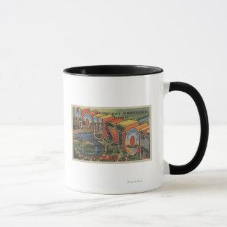 ヒューストン、テキサス州-大きい手紙場面2 マグカップ