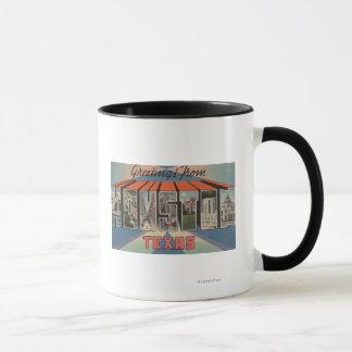 ヒューストン、テキサス州-大きい手紙場面 マグカップ