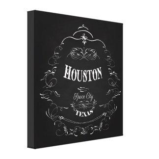 ヒューストン、テキサス州-宇宙都市 キャンバスプリント