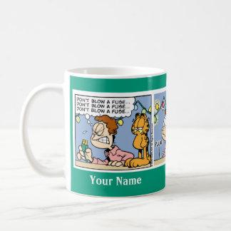 """""""ヒューズ""""のガーフィールドの続きこま漫画のマグ吹かないで下さい コーヒーマグカップ"""