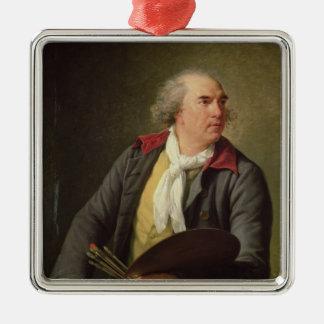 ヒューバートロバート1788年のポートレート シルバーカラー正方形オーナメント