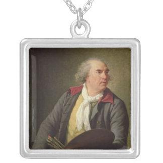 ヒューバートロバート1788年のポートレート シルバープレートネックレス