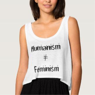 ヒューマニズムの≠のフェミニズム タンクトップ