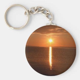 ヒューロン湖の日の出 キーホルダー