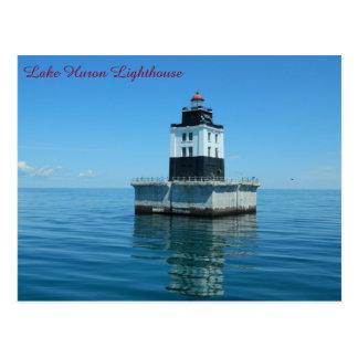 ヒューロン湖の灯台- Poe礁 ポストカード