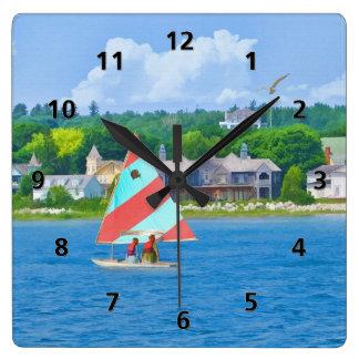 ヒューロン湖の航海 スクエア壁時計
