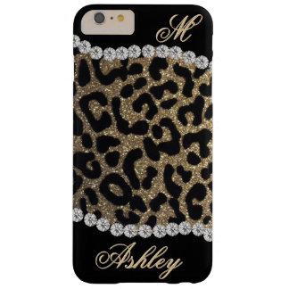 ヒョウおよびダイヤモンドのモノグラム BARELY THERE iPhone 6 PLUS ケース