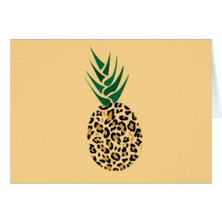 ヒョウかパイナップルか。 おもしろいな錯覚の写真 カード