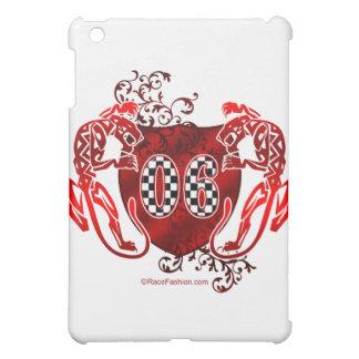 ヒョウが付いているチェック模様の旗の06 iPad MINI カバー