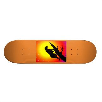 ヒョウのシルエット 20CM スケートボードデッキ