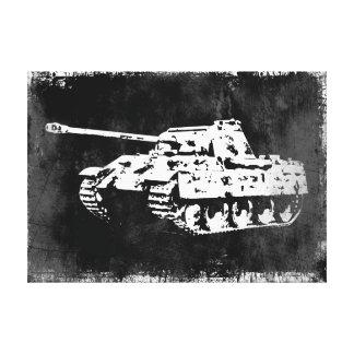 ヒョウのタンクによって伸ばされるキャンバスのプリント キャンバスプリント