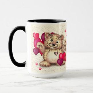 ヒョウのバレンタインのおもしろいのコンボのマグ15のonz マグカップ
