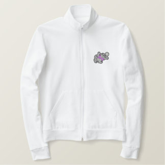 ヒョウのバレーボール 刺繍入りジャケット
