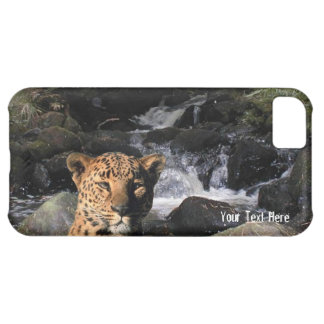 ヒョウのバージョン2壮麗な滝の背景 iPhone5Cケース