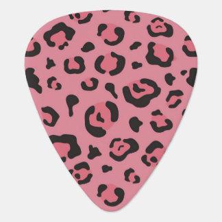 ヒョウのピンク動物のイラストレーション ギターピック