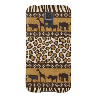 ヒョウのプリントおよびアフリカ動物 GALAXY S5 ケース