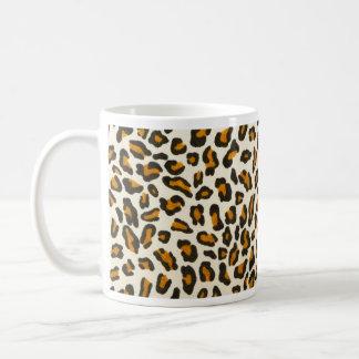 ヒョウのプリントのアニマル・スキン コーヒーマグカップ