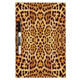 ヒョウのプリントのエレガントな毛皮 ホワイトボード