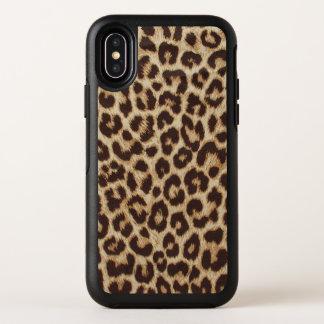 ヒョウのプリントのオッターボックスの対称のiPhone Xの場合 オッターボックスシンメトリー iPhone X ケース