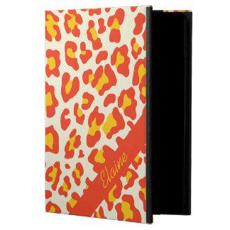 ヒョウのプリントのオレンジ黄色の白いiPadの空気箱 Powis iPad Air 2 ケース