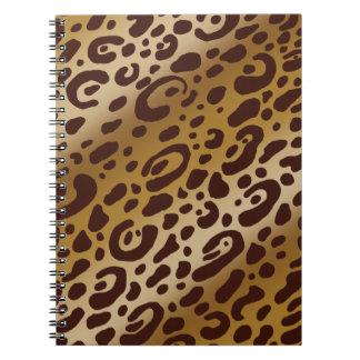 ヒョウのプリントのノート ノートブック
