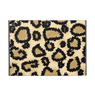 ヒョウのプリントのパターン、ブラウンおよび黒 iPad MINI ケース