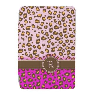 ヒョウのプリントのピンクの茶色のモノグラムのipadカバー iPad miniカバー