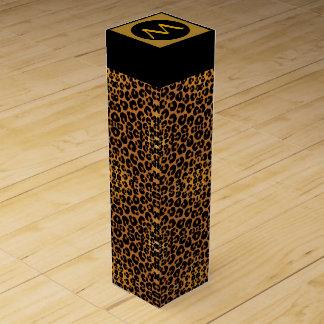 ヒョウのプリントのワイン箱 ワインギフトボックス