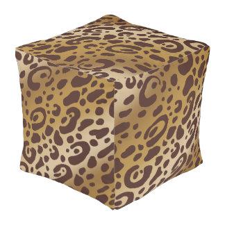 ヒョウのプリントの立方体の豆バッグ プーフ