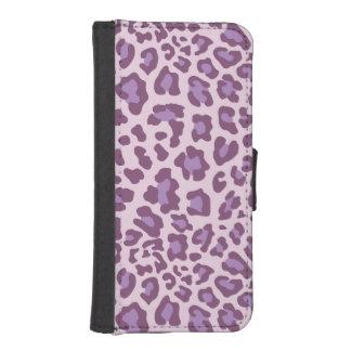 ヒョウのプリントの紫色およびラベンダー iPhoneSE/5/5sウォレットケース