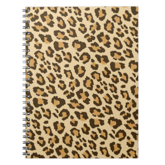 ヒョウのプリントの螺線形ノート ノートブック