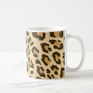 ヒョウのプリント コーヒーマグカップ