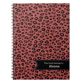 ヒョウのプリント ノートブック