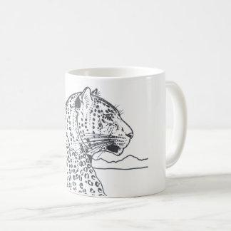 ヒョウのプロフィールのマグ コーヒーマグカップ