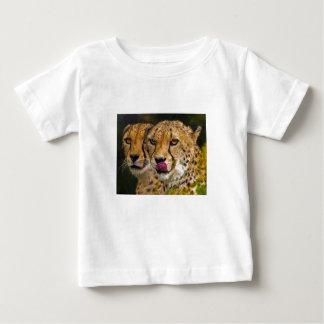ヒョウのベビーのTシャツ ベビーTシャツ
