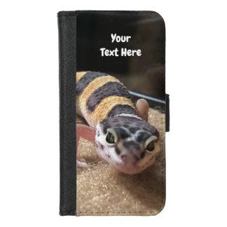 ヒョウのヤモリのiPhoneのウォレットケースを個人化して下さい iPhone 8/7 ウォレットケース